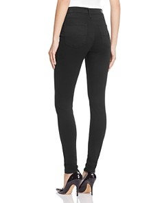 AG - Farrah High-Rise Sateen Skinny Jeans in Black