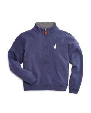 Johnnie-o Boys' Heavy Jersey Quarter Zip Pullover - Little Kid, Big Kid