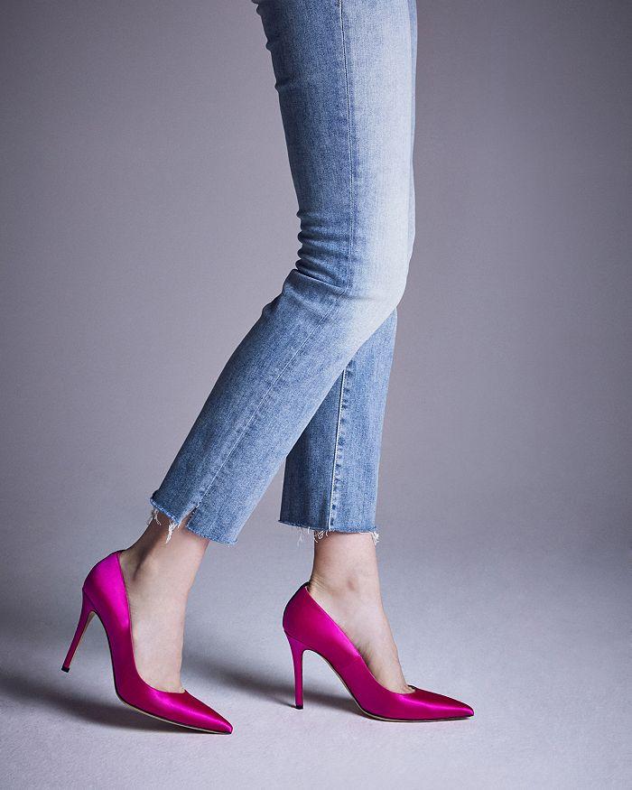 Women's Satin Fawn High Heeled Pump by SJP