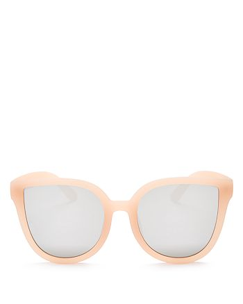 Quay - Women's Paradiso Mirrored Oversized Cat Eye Sunglasses, 57mm