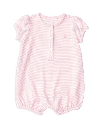 Ralph Lauren - Girls' Striped Bubble Shortall - Baby