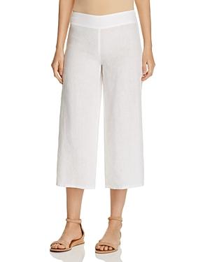Eileen Fisher Cropped Wide Leg Linen Pants