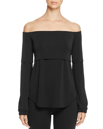 $DKNY Off-the-Shoulder Layered-Look Blouse - 100% Exclusive - Bloomingdale's
