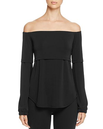 DKNY - Off-the-Shoulder Layered-Look Blouse - 100% Exclusive