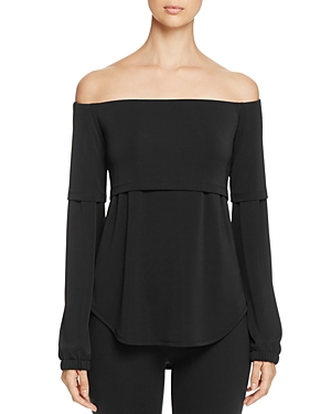 Dkny Off-the-Shoulder Layered-Look Blouse - 100% Exclusive