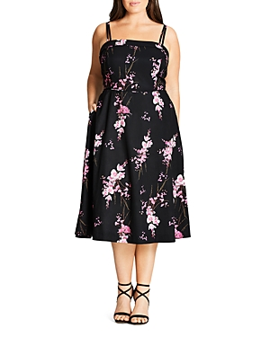 New City Chic Holiday Romance Dress, Baby Orchid