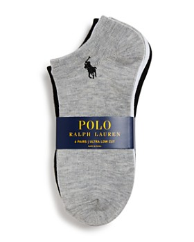 Ralph Lauren - Flat Knit Ultra Low Socks, Set of 6