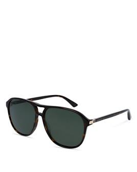 Gucci - Men's Polarized Brow Bar Aviator Sunglasses, 60mm