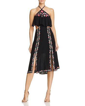 RahiCali - Poppy Embroidered Halter Dress