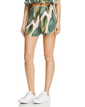 Show Me Your MuMu Palm Print Sawyer Shorts