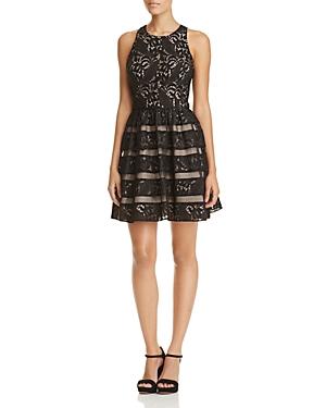 Aidan Aidan Lace Fit-and-Flare Dress