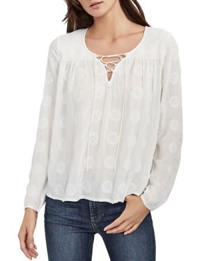 Velvet by Graham & Spencer Aurora Lace-Up Top