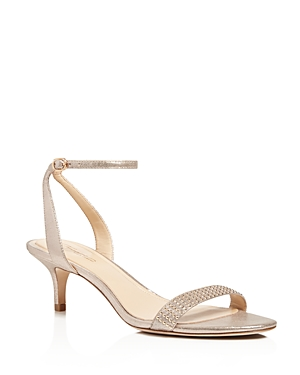Imagine Vince Camuto Kevil Studded Metallic Leather Mid Heel Sandals