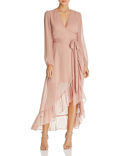 WAYF - Only You Ruffle Wrap Dress - 100% Exclusive