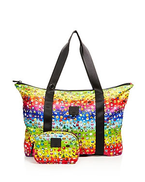 Terez Girls' Rainbow Emoji Collapsible Tote Bag