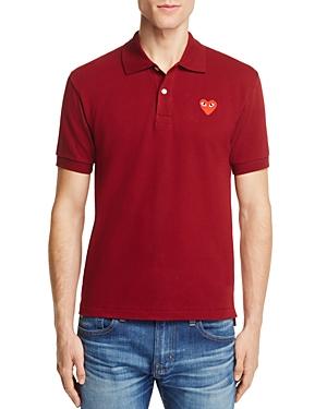 Comme Des Garcons Play Pique Slim Fit Polo Shirt