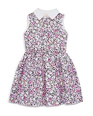 kate spade new york Girls' Floral Poplin Shirtdress - Big Kid