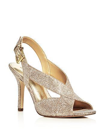 804a0c539705 MICHAEL Michael Kors - Women s Becky Glitter Crisscross Slingback Sandals