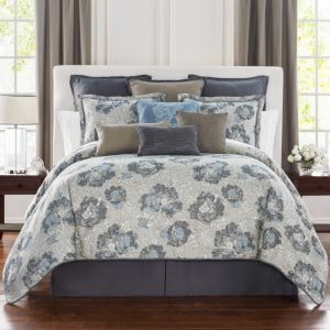 Waterford Blossom Floral Jacquard Comforter Set, Queen