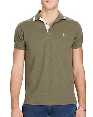 Polo Ralph Lauren Cotton Mesh Tipped Collar Slim Fit Polo Shirt