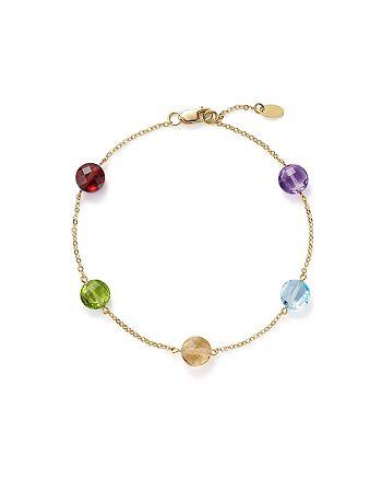 Bloomingdale's - Multi Gemstone Station Bracelet in 14K Yellow Gold- 100% Exclusive