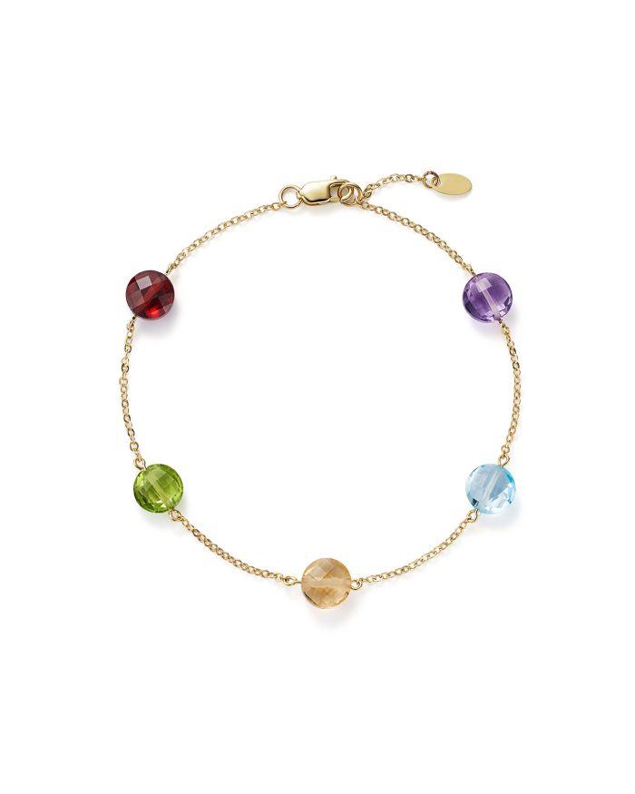 Bloomingdale's Multi Gemstone Station Bracelet in 14K Yellow Gold - 100% Exclusive    Bloomingdale's