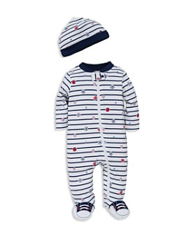 Little Me - Boys' Sports Star Footie & Hat Set - Baby