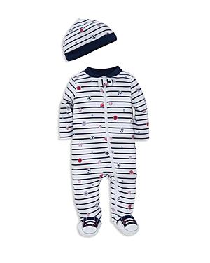 Little Me Infant Boys Sports Star Footie  Hat Set  Sizes 39 Months