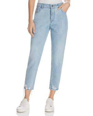 DL1961 Goldee High Rise Tapered Jeans in Plunge