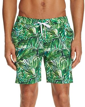 Onia Charles Palm Leaf Print Swim Trunks - 100% Exclusive
