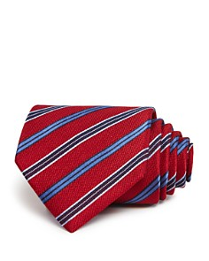 The Men's Store at Bloomingdale's - Medium Track Stripe Wide Tie- 100% Exclusive