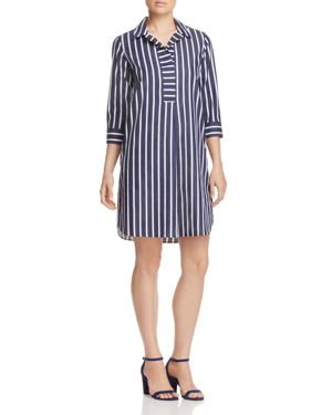 Foxcroft Nikki Stripe Non-Iron Shirt Dress