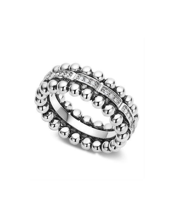 LAGOS - Sterling Silver Caviar Spark Diamond Band