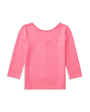 Ralph Lauren Childrenswear Girls' Scoop Neck Tee - 2-6X