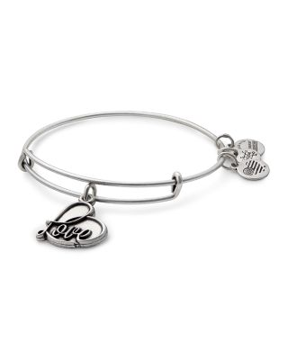 ALEX AND ANI Love Expandable Charm Bracelet in Silver