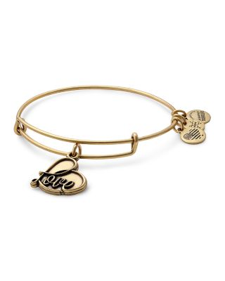 ALEX AND ANI Love Expandable Charm Bracelet in Gold