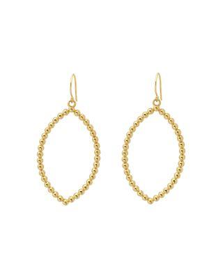 MARGARET ELIZABETH Bali Drop Earrings in Gold