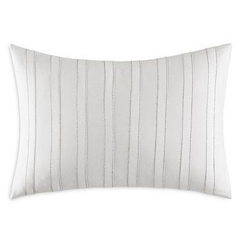 "Vera Wang - Striped Seams Decorative Pillow, 12"" x 16"""
