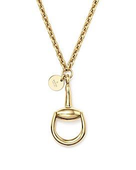 "Gucci - 18K Yellow Gold Horsebit Necklace, 16.9"""