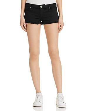 True Religion Joey Cutoff Shorts in Jet Black