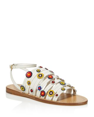Tory Burch Marguerite Floral Strappy