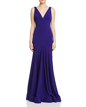 Jovani Fashions V-Neck Trumpet Gown