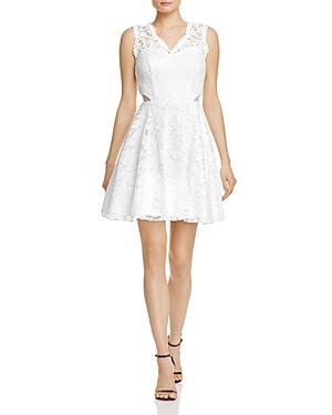 Aqua Lace Illusion Detail Dress - 100% Exclusive