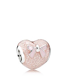 PANDORA Moments Collection Sterling Silver & Enamel Pink Bow Heart Charm - Bloomingdale's_0