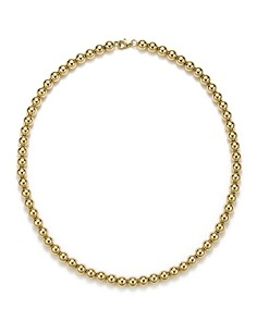 "Bloomingdale's - 14K Yellow Gold Beaded Necklace, 18"" - 100% Exclusive"