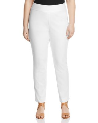 NIC AND ZOE PLUS Perfect Pant Straight-Leg Slim Ankle Pants, Plus Size in Paper White