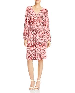 Foxcroft Liza Geo Print Crepe Dress