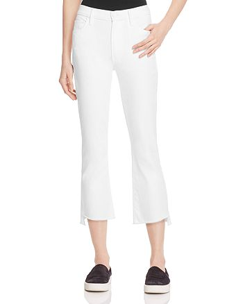 MOTHER - Insider Crop Step Fray Jeans in Glass Slipper