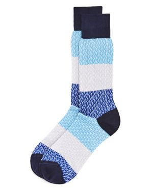 The Men's Store at Bloomingdale's Chain Rows Socks - 100% Exclusive