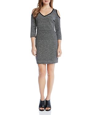 Karen Kane Cold Shoulder Stripe Dress